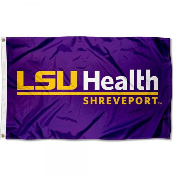 LSU Health Shreveport Logo Flag