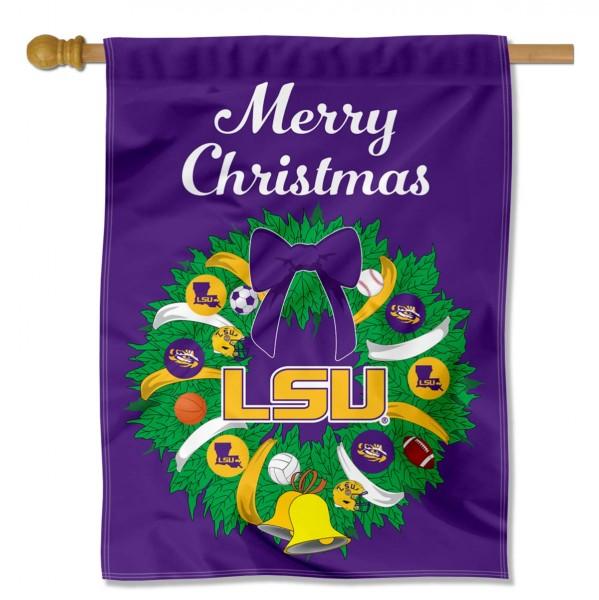 LSU Holiday Flag