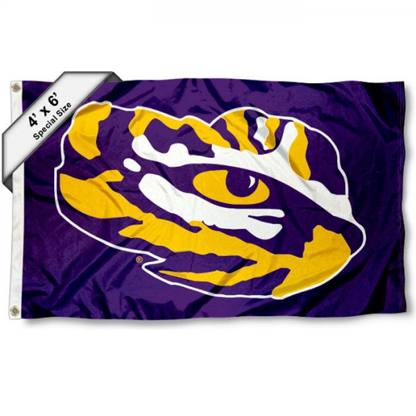 LSU Tiger Eye 4x6 Foot Flag