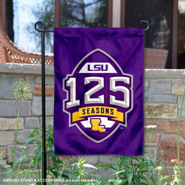 LSU Tigers 125 Football Seasons Garden Flag