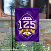 LSU Tigers 125 Football Seasons Garden Flag