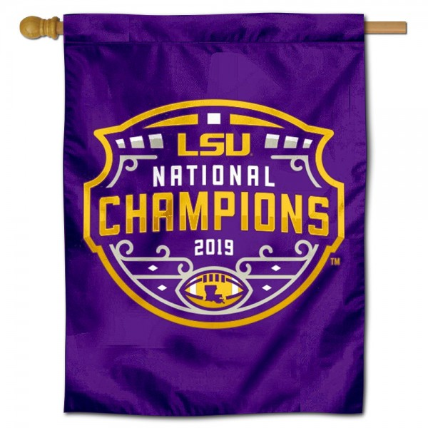 LSU Tigers 2019 Football National Champions Banner Flag
