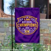 LSU Tigers 2019 National Champs Double Sided Garden Flag