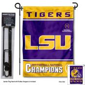 LSU Tigers 2019 NCAA Football Champs Garden Flag and Holder