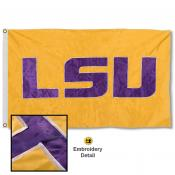 LSU Tigers Appliqued Nylon Flag