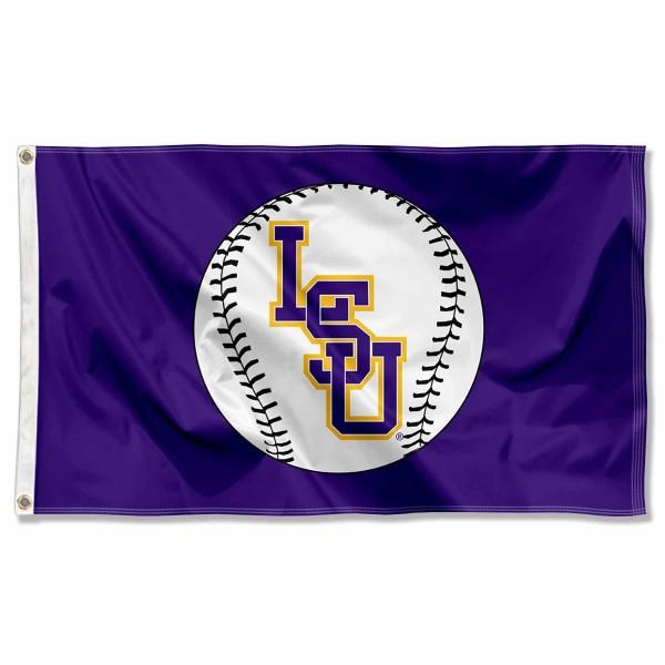 LSU Tigers Baseball Flag