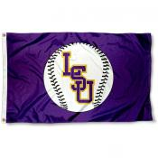 LSU Tigers Baseball Flag