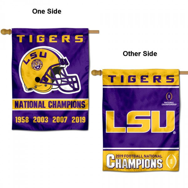 LSU Tigers College Football Playoff National Championship House Flag
