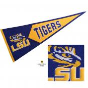 LSU Tigers Embroidered Wool Pennant