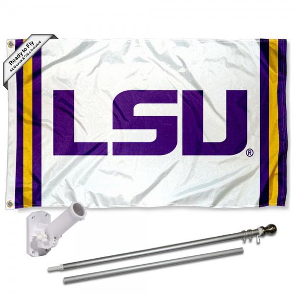 LSU Tigers Flag and Bracket Flagpole Kit
