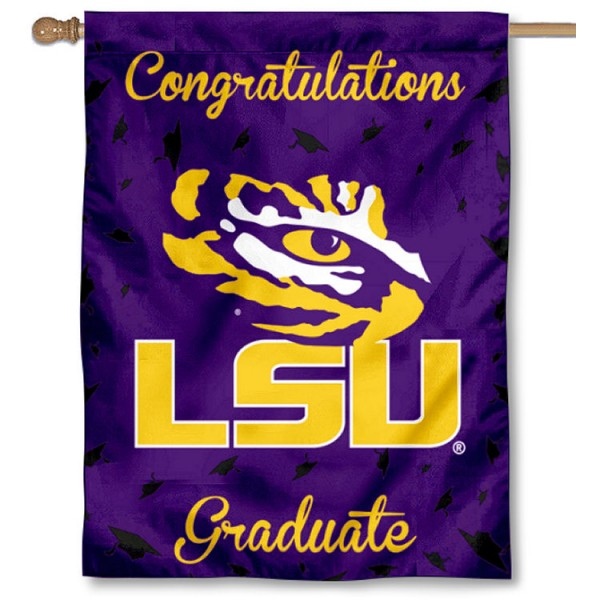 LSU Tigers Graduation Banner