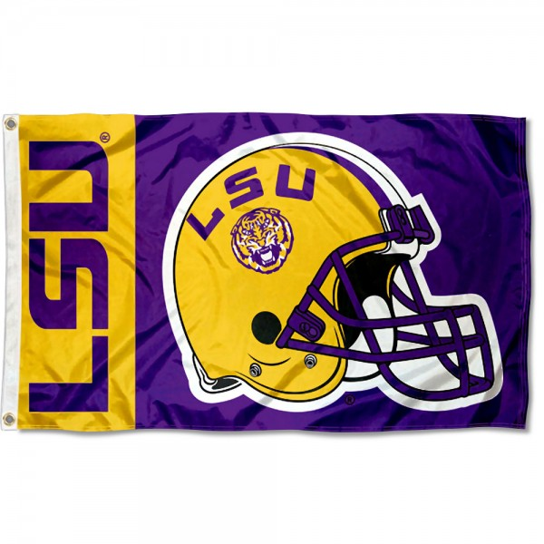 LSU Tigers Helmet Flag