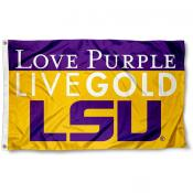 LSU Tigers Love Purple Live Gold Flag