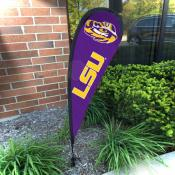 LSU Tigers Mini Teardrop Garden Flag