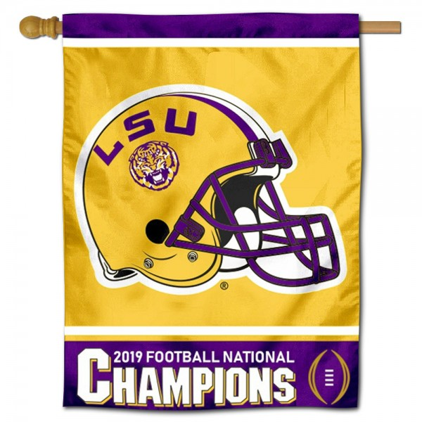 LSU Tigers National Football Champions House Flag