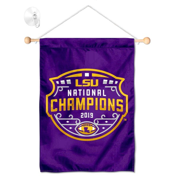 LSU Tigers National Football Champions Small Wall and Window Banner