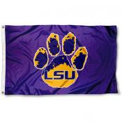 LSU Tigers Paw Flag