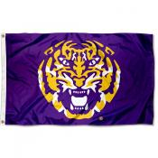 LSU Tigers Tiger Head 3x5 Foot Flag