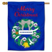 Lubbock Christian Chaparrals Christmas Holiday House Flag