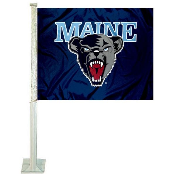 Maine Black Bears Car Flag