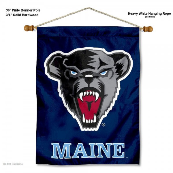Maine Black Bears Wall Hanging