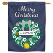 Marietta College Pioneers Christmas Holiday House Flag
