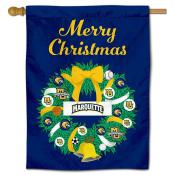 Marquette Golden Eagles Christmas Holiday House Flag