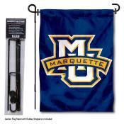 Marquette Golden Eagles Garden Flag and Holder