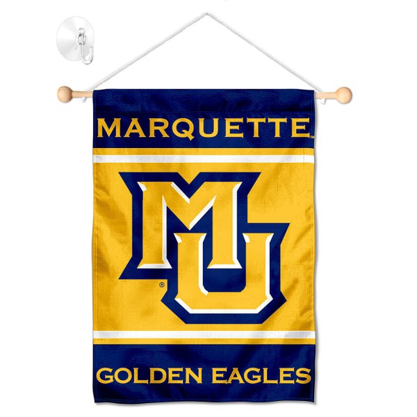 Marquette Golden Eagles Window Hanging Banner with Suction Cup