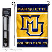 Marquette University Garden Flag and Yard Pole Holder Set