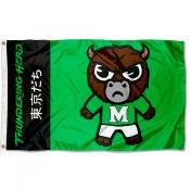 Marshall Thundering Herd Tokyodachi Cartoon Mascot Flag