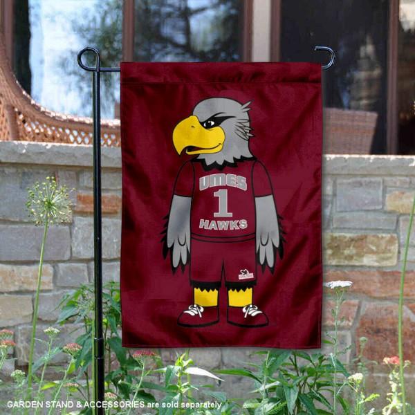 Maryland Eastern Shore Hawks Mascot Garden Flag