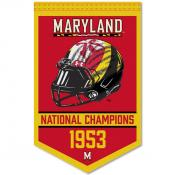 Maryland Terps College Football National Champions Banner