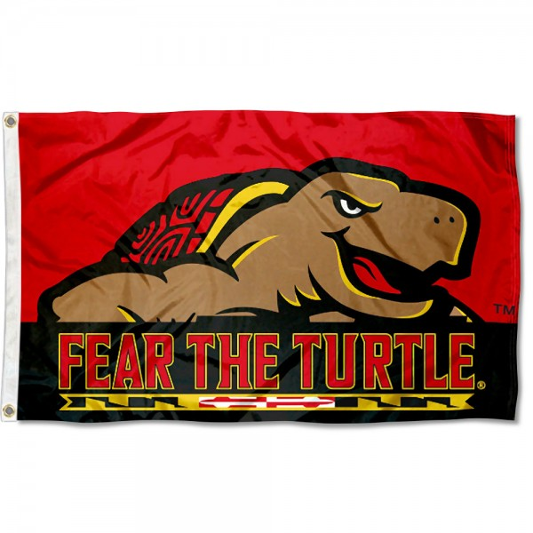 Maryland Terps Fear the Turtle 3x5 Foot Flag
