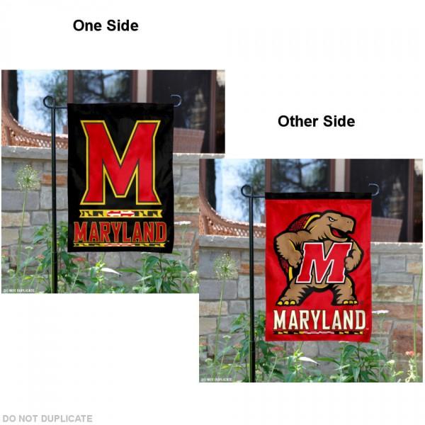 Maryland Terrapins Black Garden Banner