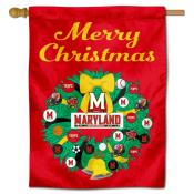 Maryland Terrapins Christmas Holiday House Flag