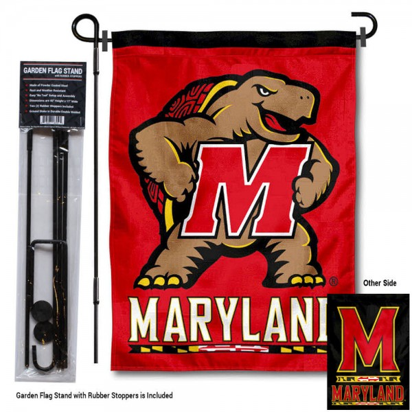 Maryland Terrapins Garden Flag and Holder
