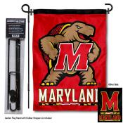 Maryland Terrapins Garden Flag and Holder