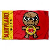 Maryland Terrapins Tokyodachi Cartoon Mascot Flag
