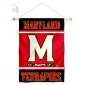 Maryland Terrapins Window Hanging Banner with Suction Cup