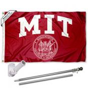 Massachusetts Institute of Technology Flag and Bracket Flagpole Kit