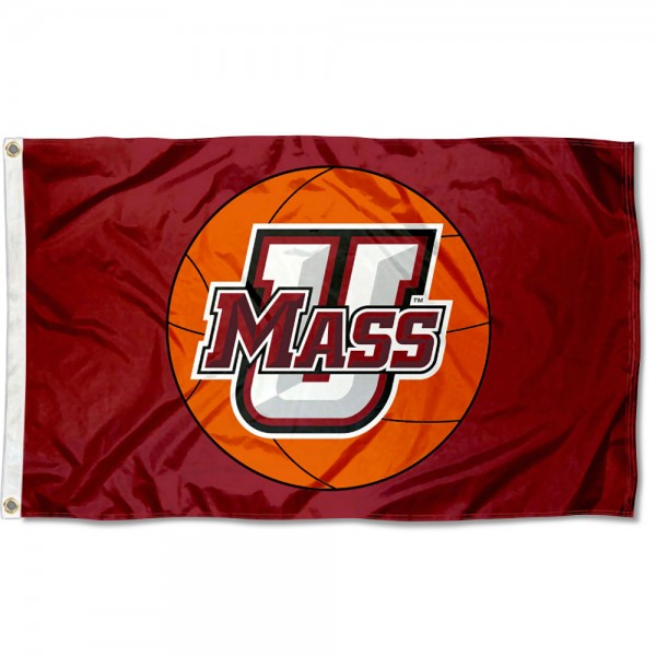 Massachusetts Minutemen Basketball Flag