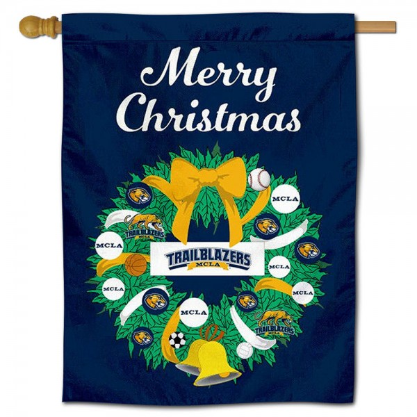 MCLA Trailblazers Christmas Holiday House Flag