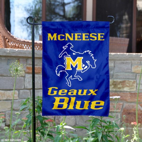 McNeese State Geaux Blue Garden Flag