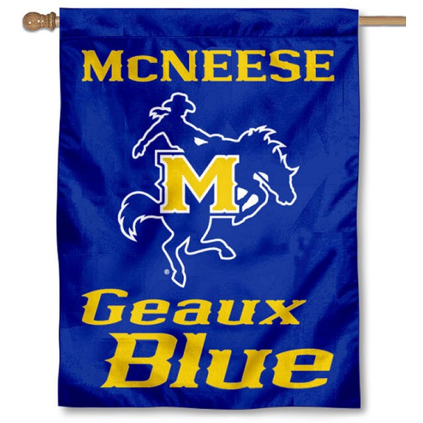 McNeese State Geaux Blue House Flag