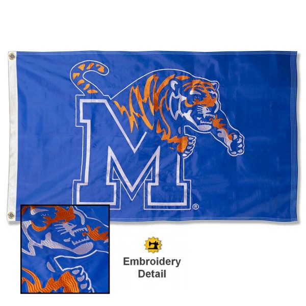 Memphis Tigers Appliqued Nylon Flag