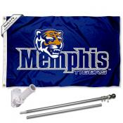 Memphis Tigers Flag and Bracket Flagpole Set