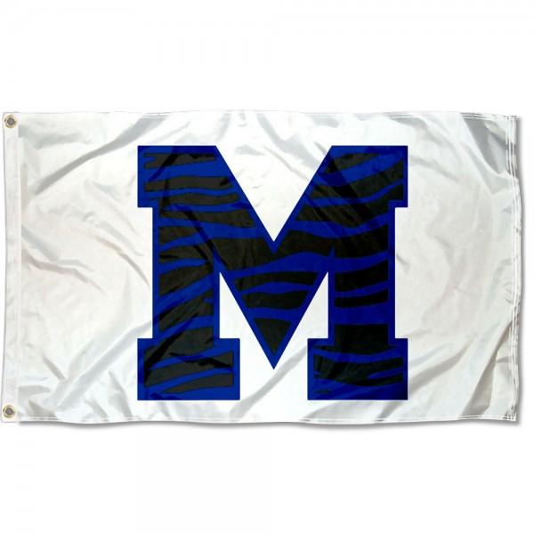 Memphis Tigers Tiger Striped M Logo Flag