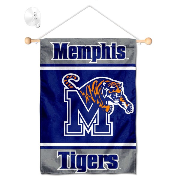 Memphis Tigers Window Hanging Banner with Suction Cup