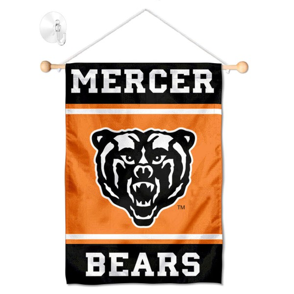 Mercer Bears Window Hanging Banner with Suction Cup